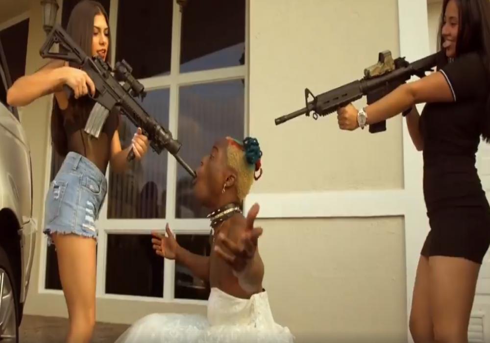 Rapper NewAge JerkBoy Dances In Wedding Dress For \